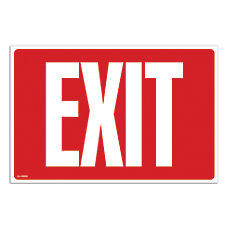Cosco Exit Sign With Glow in