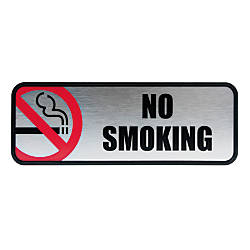 Cosco Brushed Metal No Smoking Sign
