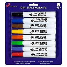 SKILCRAFT Dry Erase Markers Chisel Tip