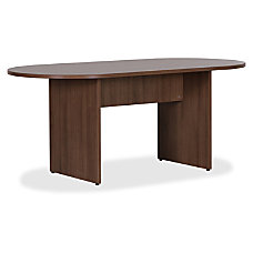 Lorell Essentials Walnut Laminate Oval Conference