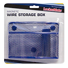 LockerMate Wire Mesh Locker Organizer BlackBlue