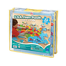 Learning Resources USA Foam Map Puzzle