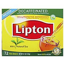 Lipton Decaffeinated 100 Percent Natural Black