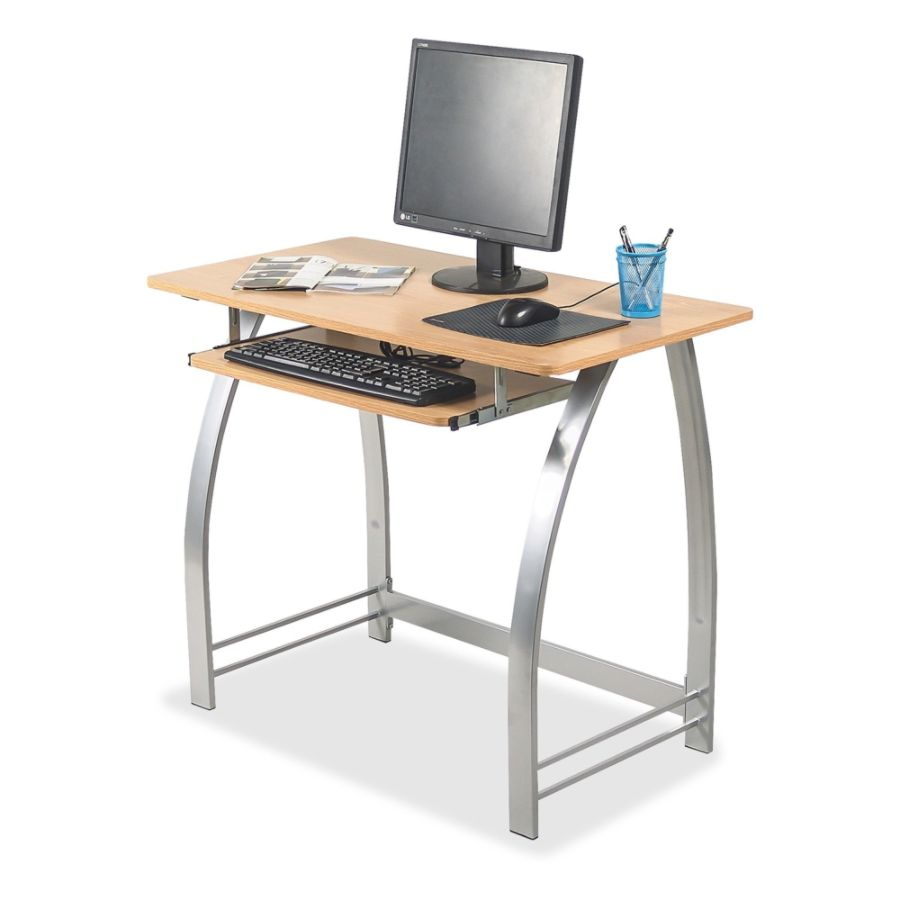 Lorell Laminate Computer Desk 30 H x 36 14 W x 19 D Maple by