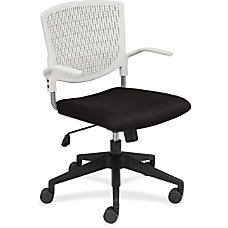 Lorell Plastic Back Task Chair Fabric