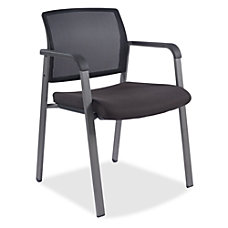 Lorell Guest Chair Fabric Black Plastic