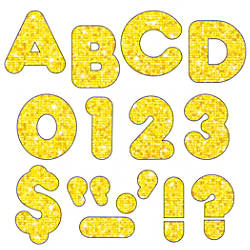 TREND Ready Letters Sparkle 4 Yellow