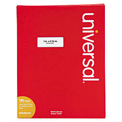 Universal Permanent Labels 1 x 2