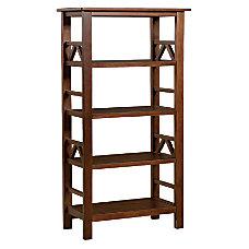 Linon Titian 4 Shelf Bookcase Antique