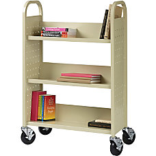 Lorell Single sided Book Cart 3