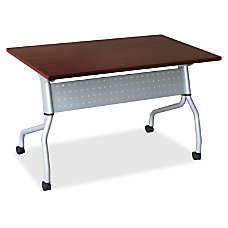 Lorell Mahogany Flip Top Training Table