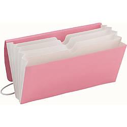 Smead TagAlong Organizer 5 Pockets Pink