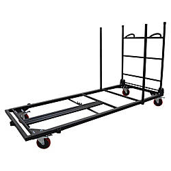 Lorell Blow Mold Rectangular Table Trolley