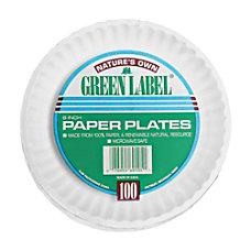 AJM Plates 9 White 100 Per