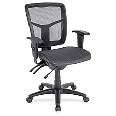 Lorell Mid Back Swivel Mesh Chair