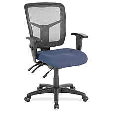 Lorell Swivel Mid Back Chair FabricBlack