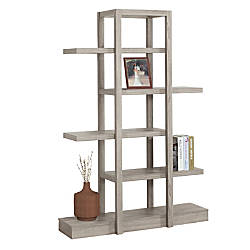 Monarch Specialties Etagere 5 Shelf Bookcase