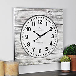 FirsTime Weathered Square Wall Clock 15