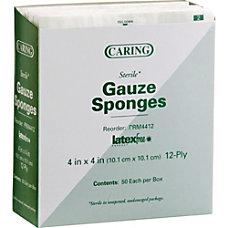 Medline Sterile Woven Gauze Sponges 12