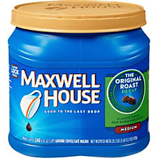 Maxwell House Coffee Decaffeinated Original Roast