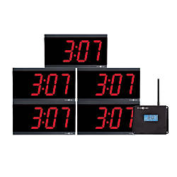 Pyramid Time Systems Clock In A