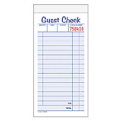 Adams Carbonless Guest Check Pad 2
