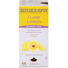 Bigelow Tea Lemon Herbal Tea Herbal