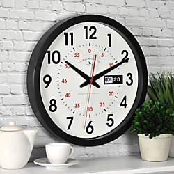FirsTime Harris DayDate Round Wall Clock
