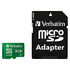 Verbatim 8GB Tablet microSDHC Memory Card