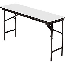 iceberg premium wood laminate folding table rectangular 72 w x 18