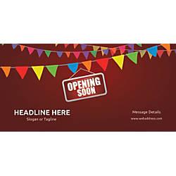Custom Horizontal Banner Opening Soon Bunting