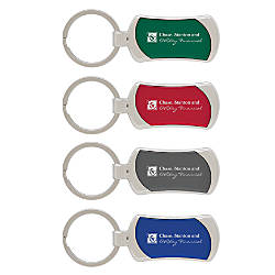 Silver Accent Key Tag