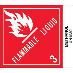 Tape Logic Preprinted Labels Methanol Square