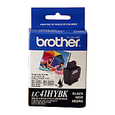 Brother LC41 High Yield Black Ink