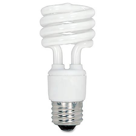 satco spiral t2 fluorescent light bulbs 13 watt box of 4 by office depot amp. Black Bedroom Furniture Sets. Home Design Ideas