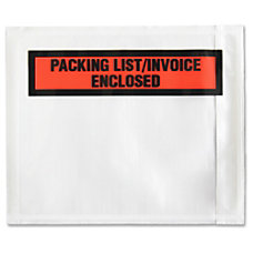 Sparco Pre Labeled Waterproof Packing Envelopes