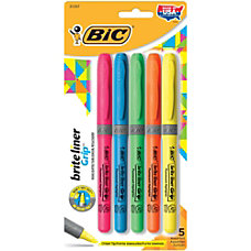 BIC Brite Liner Grip Highlighters Assorted