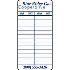 1 Color Weather Resistant Labels Rectangle