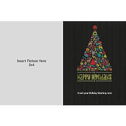 Photo Greeting Card Horizontal Black Tree