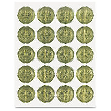 Geographics Gold Embossed Seals 2 Diameter