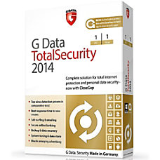 G Data TotalSecurity 2014 1 PC