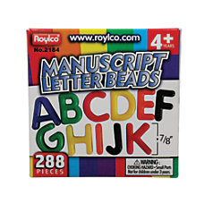 Roylco Uppercase Manuscript Letter Beads Assorted
