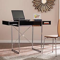 Southern Enterprises Brayton Wooden Desk BlackChrome