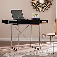 Southern Enterprises Brayton Wooden Desk BlackChrome