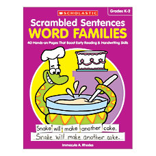 Activity Books Scrambled Sentences Word Families