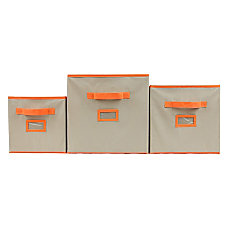 Orbit Storage Bins Assorted Sizes OatmealOrange