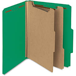 Smead 100percent Recycled Pressboard Colored Classification