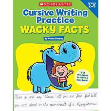 Scholastic Cursive Writing Practice Wacky Facts