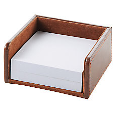 Realspace Brown Leatherette Memo Holder