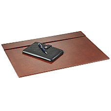 Realspace Brown Leatherette Desk Pad